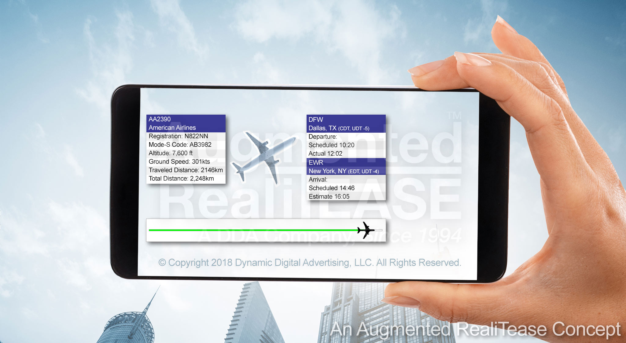 Plane Information Augmented Reality Application